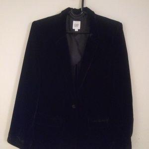 Gap Black Velvet Blazer Large